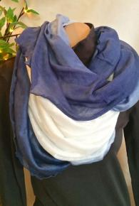 Ombre Multi-Way Tube Scarf Blue/White