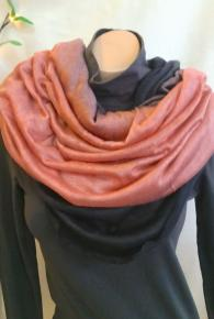 Ombre Multi-Way Tube Scarf Rust/Black
