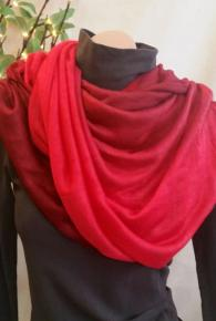 Ombre Multi-Way Tube Scarf Red/Burnt Red