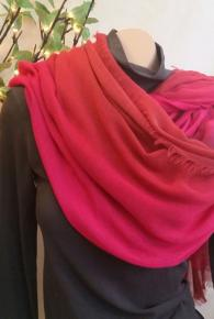 Ombre Red/Pink/Brown Scarf
