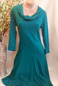 Cowl Neck 3/4 Sleeve Dress