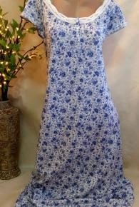 Cotton Cap Sleeve Full Length Night Gown