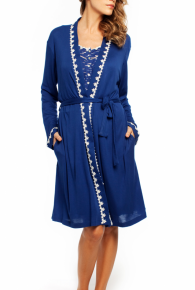 Blue Lagoon, Short Wrap Robe