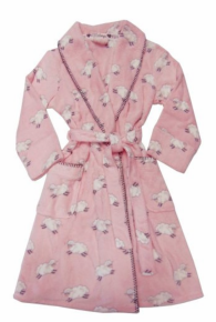 PJ Salvage Printed Sheep Full Length Long Sleeve Robe