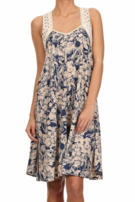 Mystree Cross Back Floral Dress