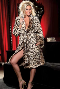 Luxurious Leopard Print Robe