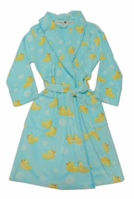 PJ Salvage Printed Ducky Full Length Long Sleeve Robe