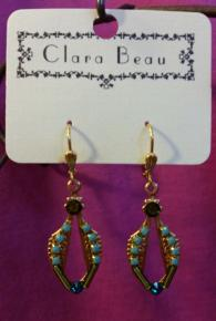 Clara Beau Open Gold & Multi Colored Crystal Earrings